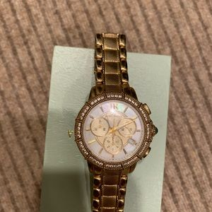 Judith Ripka Gold and Pearl Watch